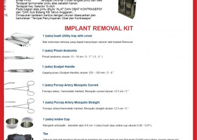 Lemari Alkon dan Implant Removal Kit 2018